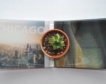 Chicago Fused Glass Dish/Plate