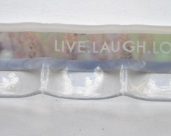Live Laugh Love 3-part Fused Glass Dish