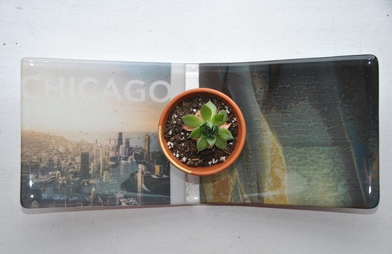 Chicago Glass Dish/Plate