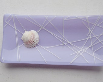 Lavender Fused Glass Sushi Dish/Plate