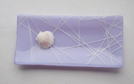 Glass Sushi Dish/Plate (Lavender/Purple)