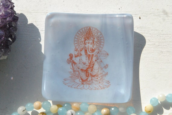 Ganesh/Ganesha Mini Glass Dish