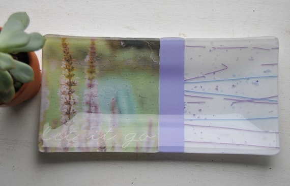 Let It Go/Lavender Glass Dish/Plate