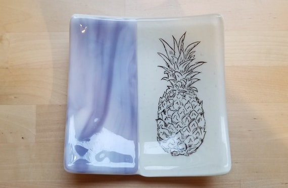 Pineapple Glass Dish/Plate