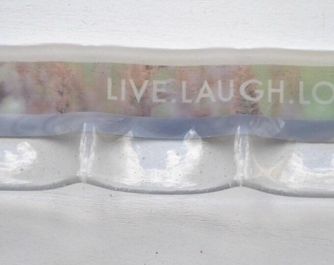 Live Laugh Love 3-part Fused Glass Dish