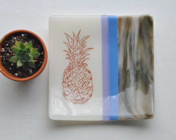 Pineapple Fused Glass Dish