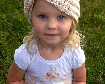 48ad018b21d 100% Cotton Crochet Baby Turban