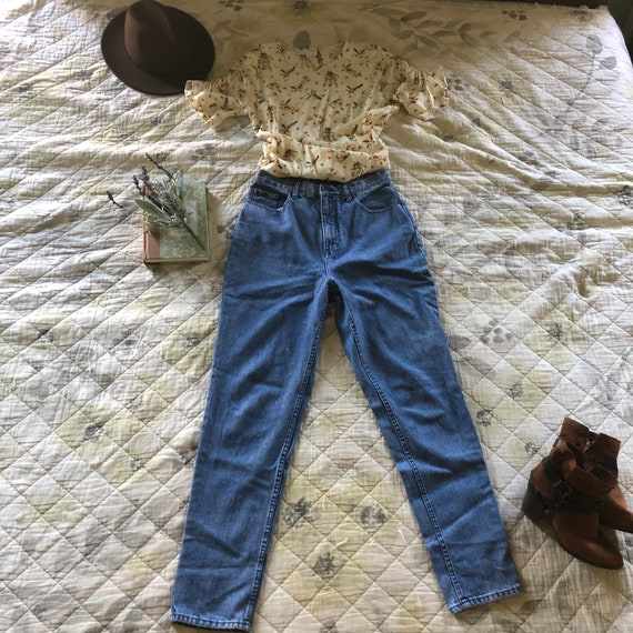 Vintage 90s Tapered Medium Wash Jeans, LA Blues Je