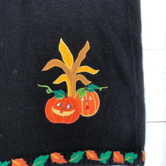 90s Vintage Halloween Vest, Halloween Sweater Ves… - image 4