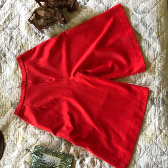 Vintage 70s Red Culottes, Retro Red Culottes, 197… - image 6