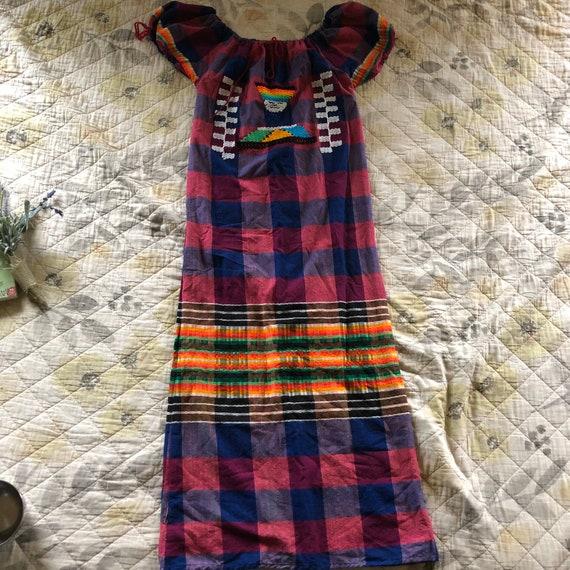 Vintage 60s Boho Hippie Maxi Dress, Vintage 60s Bo