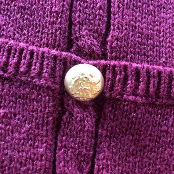 Vintage 90s Maroon Sweater Vest, 90s Button up Sw… - image 5