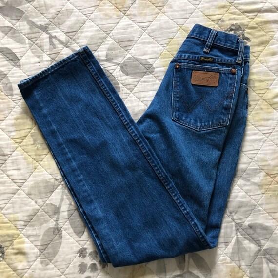90s High Waist Blue Wrangler Jeans, Vintage 90s St