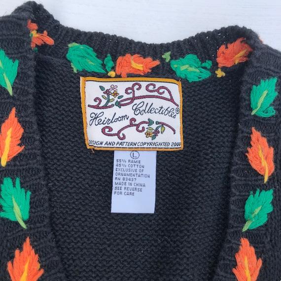 90s Vintage Halloween Vest, Halloween Sweater Ves… - image 2