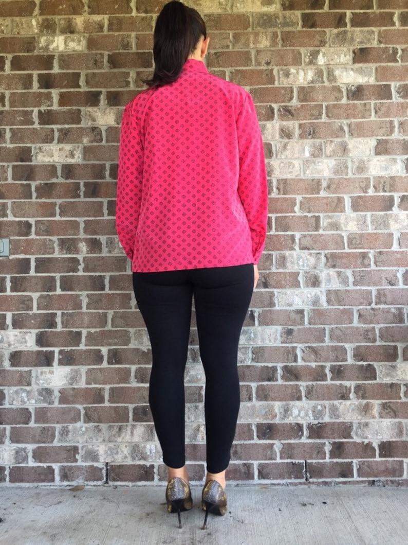 Large XL vintage blouse Dark pink Pendelton Blouse 90s vintage blouse