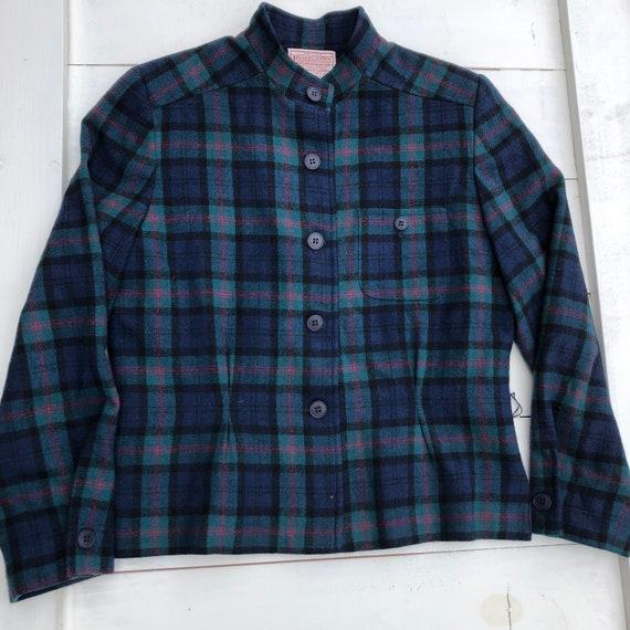 Vintage Pendleton Women's Plaid Jacket, Vintage Pl