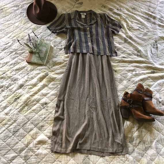 Vintage 90s Elaine Benes Dress, 2 Piece 90s Dress,