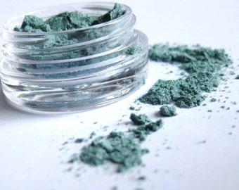 MERMAID Blue Mineral Eye Shadow Sample: Vegan Makeup Color
