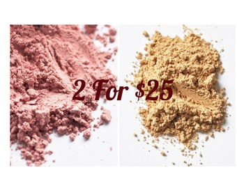 BLUSH AND FOUNDATION: Large Size; 2 for 25 Special!