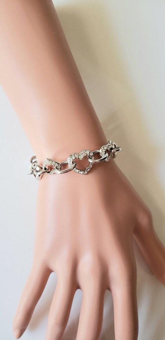 Swarovski jewelry Swarovski crystal bracelet Silve