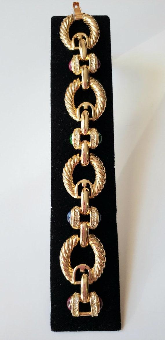 Joan Rivers bracelet Gold ton bracelet Link bracel