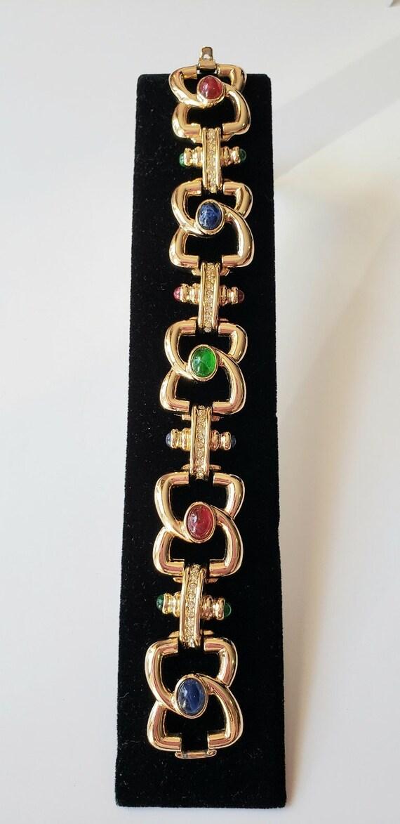 Joan River bracelet Gold ton bracelet Link bracele