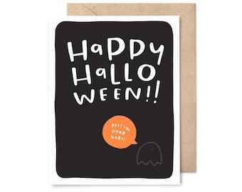 ghost - cute halloween card