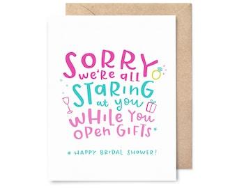 funny bridal shower card - staring at you
