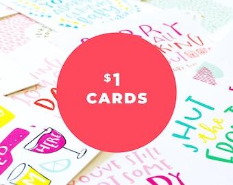 grab bag of 10 cards