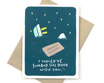 funny valentine's day card - titanic