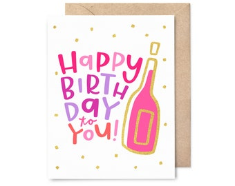 gold foil birthday card - happy birthday to you!