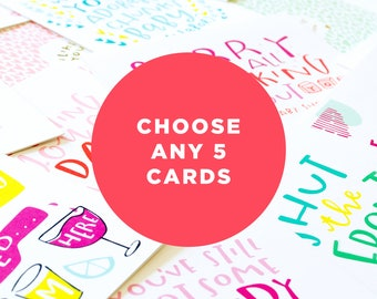 choose any 5 cards - create your own card set