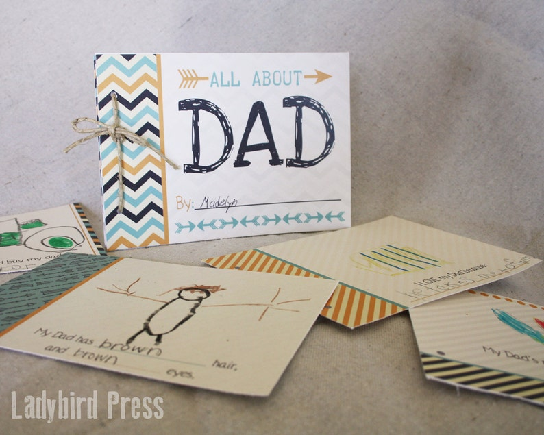 Father S Day All About Dad Book Gift Etsy