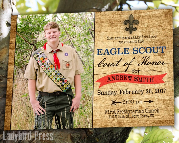 Printable Eagle Scout Court Of Honor Invitation Boy Scouts Etsy