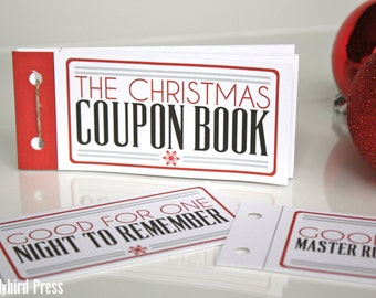 Printable Stocking Stuffer Christmas Gift - Love Coupons - Coupon Book - Christmas Gift for Husband - Instant Download - Unique