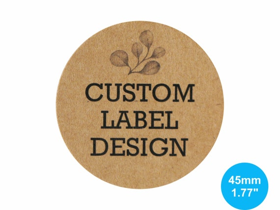 Kraft stickers 45mm circle 1 77 inches round custom sticker