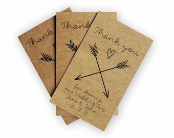 Wedding Favor Tags - Custom Kraft Tags - Custom Wedding Thank you Tags