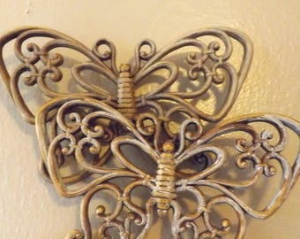 Vintage Home Interior Butterfly Wall Art Etsy