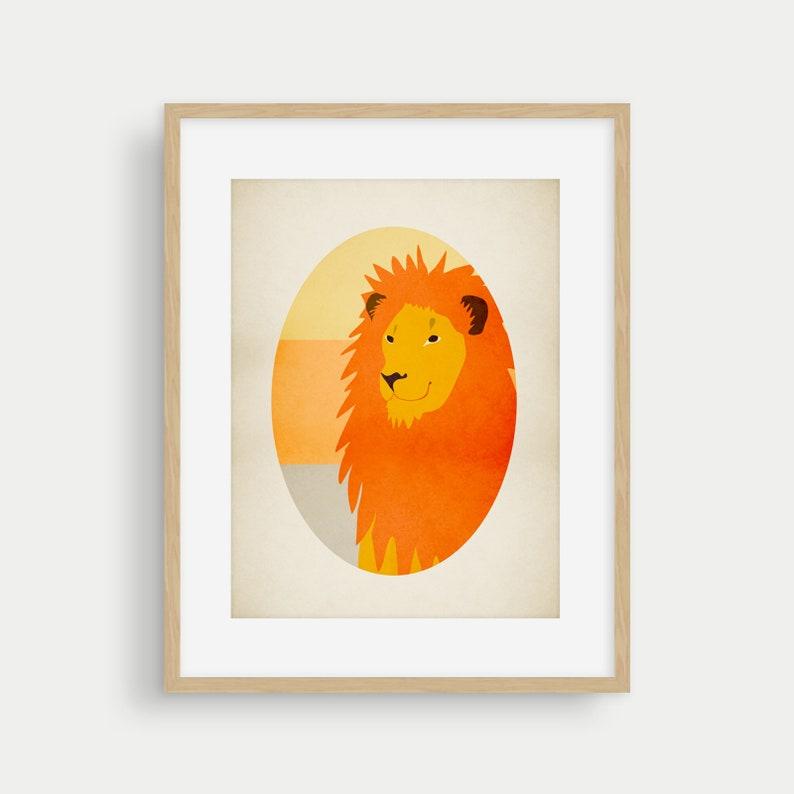 c7949f9fa Lion Nursery Art Print Safari Nursery Decor Zoo Animal | Etsy