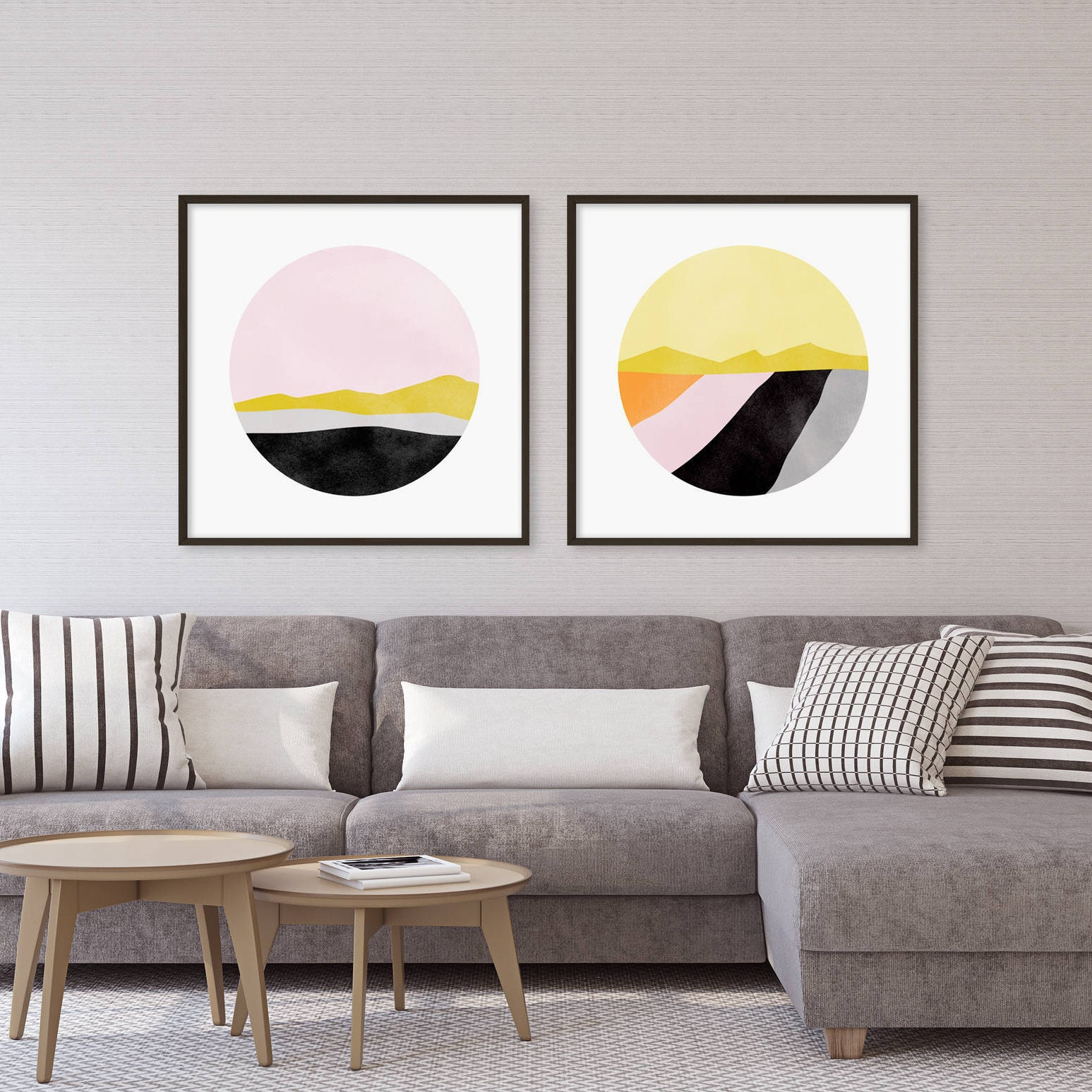 Set Of 2 Prints Large Abstract Art Pink Wall Art Set Office Decor Wall Art Prints Modern Art Large Wall Art Gift For Her Wall Decor