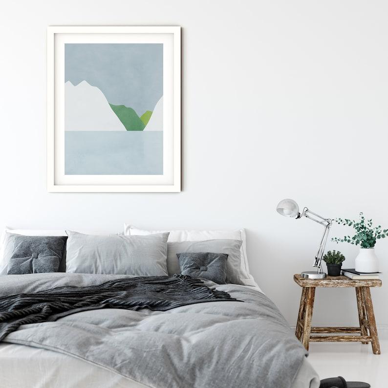 Abstract Art Modern Abstract Art Modern Art Print Gray Wall Art Print Minimalist Art Abstract Landscape Scandinavian Print