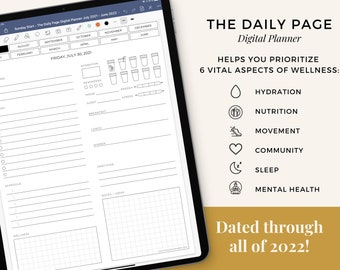 The Digital Daily Page Planner for Goodnotes - Holistic, Minimalist Wellness Planner