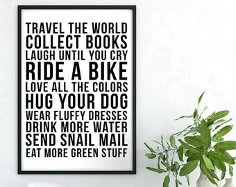 Travel the World Printable Design
