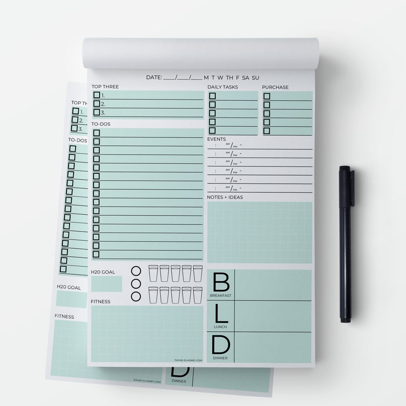 The Daily Page Notepad  2 Pack image 0