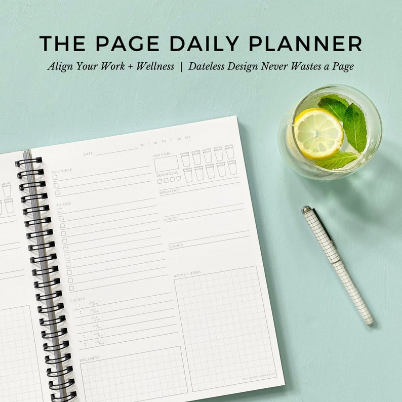 The Daily Page Planner  Eco-Conscious Holistic Wellness image 0