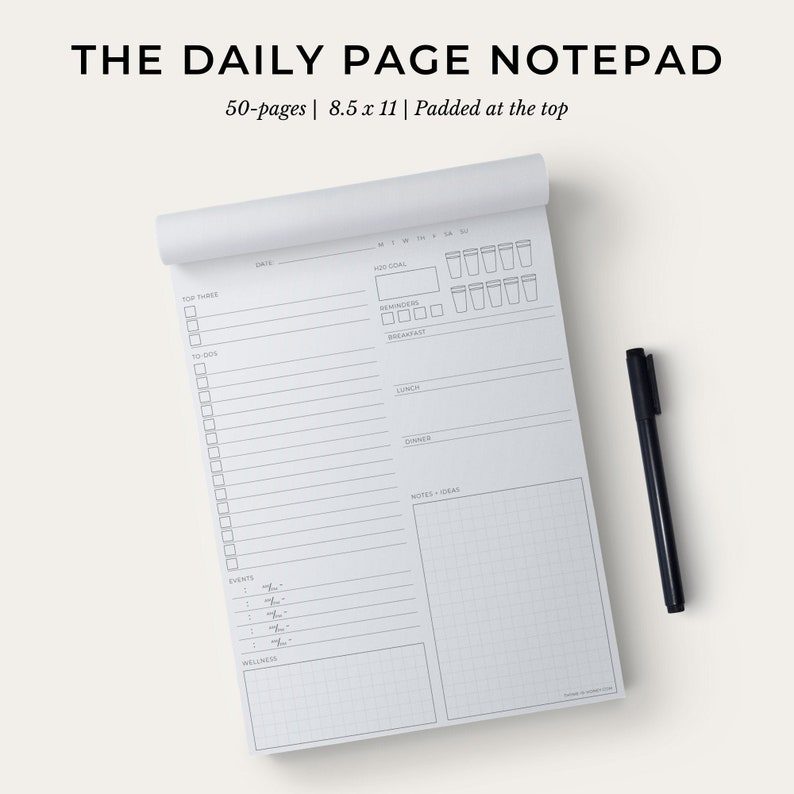 The Daily Page Notepad  Eco-Conscious Holistic Wellness image 0