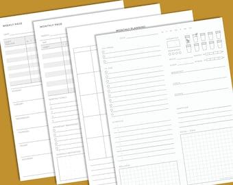The Daily Page Printable Bundle - for iPad or Printing