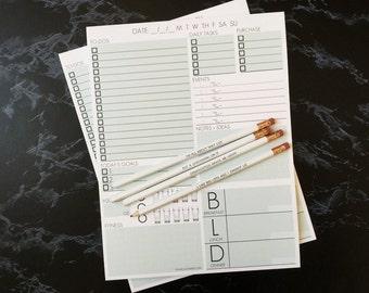 2 Notepads + Pencil Set