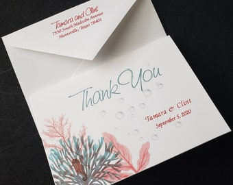 Thank You Cards, Tropical Thank You Cards, Personalized Thank You Cards,