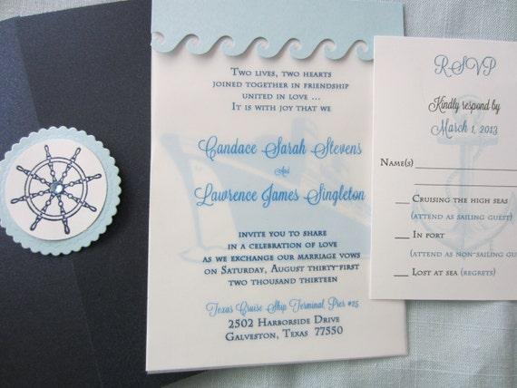 Cruise Wedding Destination Wedding Invitation Cruise Ship | Etsy